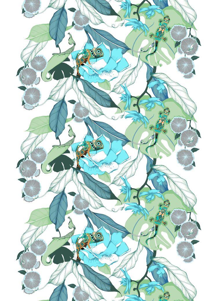 Kameleontti, turquoise by Saara Kurkela