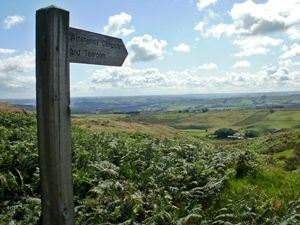 Winshield Camping and Tea Room post on Hadrian's Wall to facility near Haltwhistle