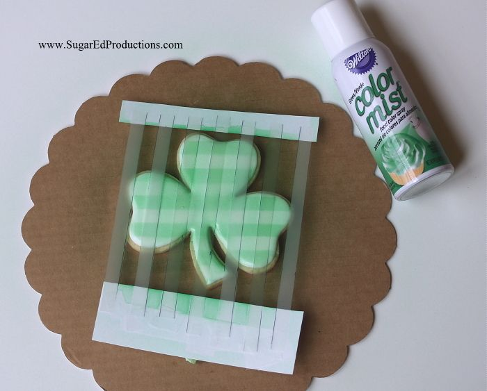 """Plaid Shamrock Cookies 