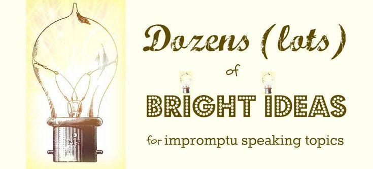 write-out-loud.com - impromptu public speaking topics banner