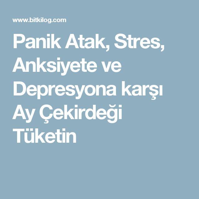 Panik Atak, Stres, Anksiyete ve Depresyona karşı Ay Çekirdeği Tüketin