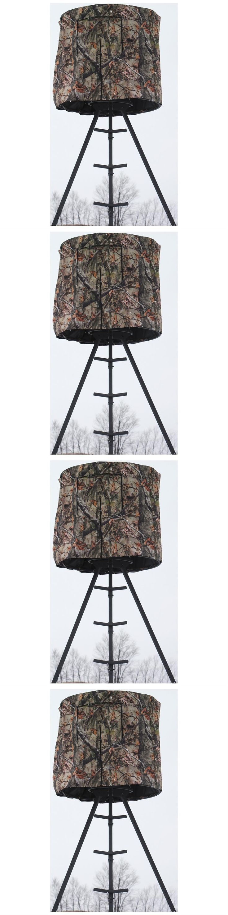 Blind and Tree Stand Accessories 177912: Tripod Deer Stand Blind Hunting Universal Round Camo Concealment Stay Protected -> BUY IT NOW ONLY: $78 on eBay!