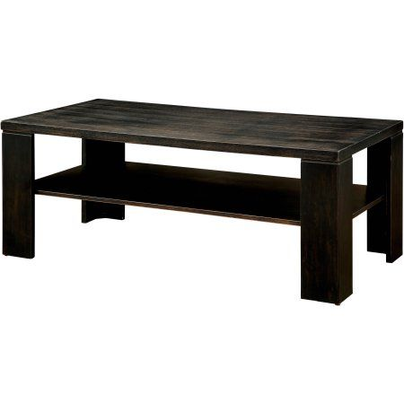Furniture of America Kyson Transitional Coffee Table, Antique Black