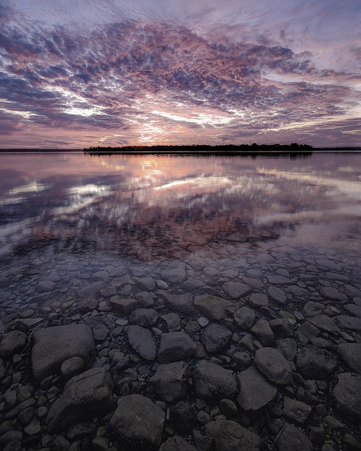 Lake Couchiching in Autumn.