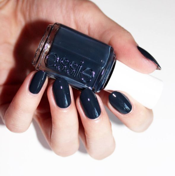 Don't hold your breath, just take the fashion plunge and score this magnificent jewel tone nail lacquer of deepest, darkest sapphire.