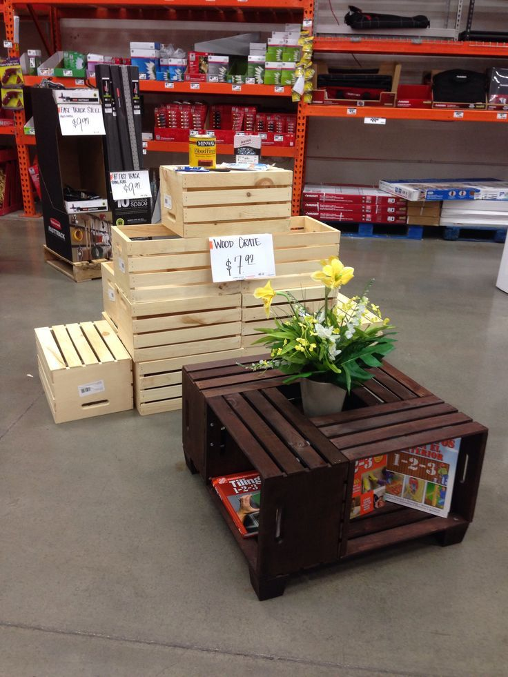 Best 25 Crate Coffee Tables Ideas On Pinterest Wine