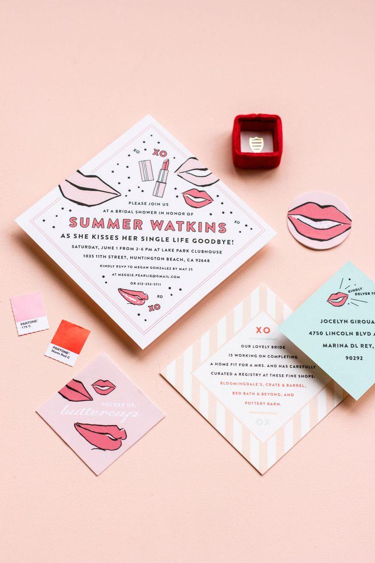 bed bath and beyond wedding invitation kits%0A maemae summer watkins shower     Wedding StationeryWedding