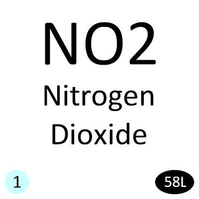 Nitrogen Dioxide (NO2) Calibration Gas - 5 PPM/N2