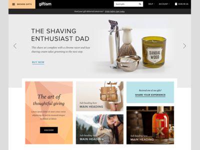 Revised gifts website homepage
