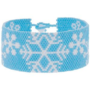 First Snowfall Bracelet | Fusion Beads Inspiration Gallery snowflake bead pattern