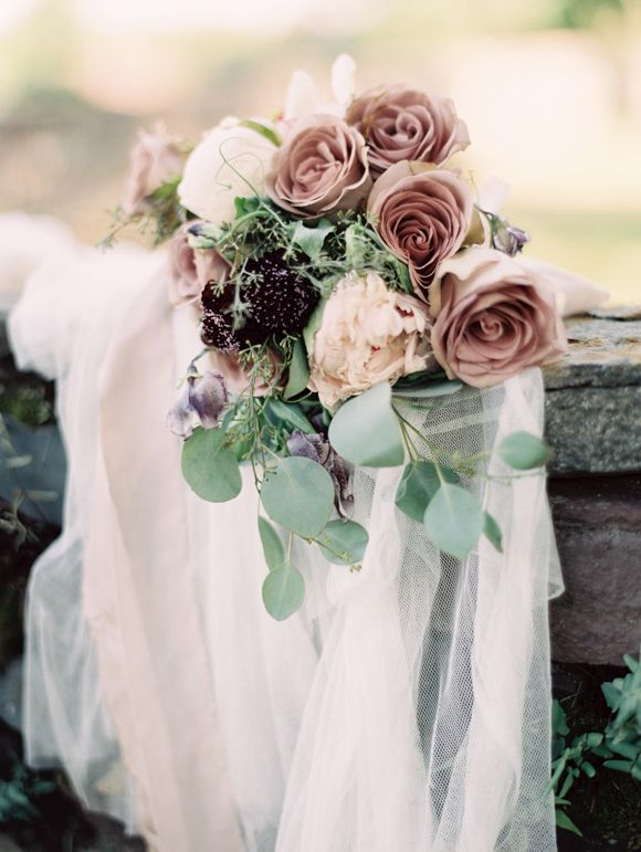 rose quartz hued bouquet