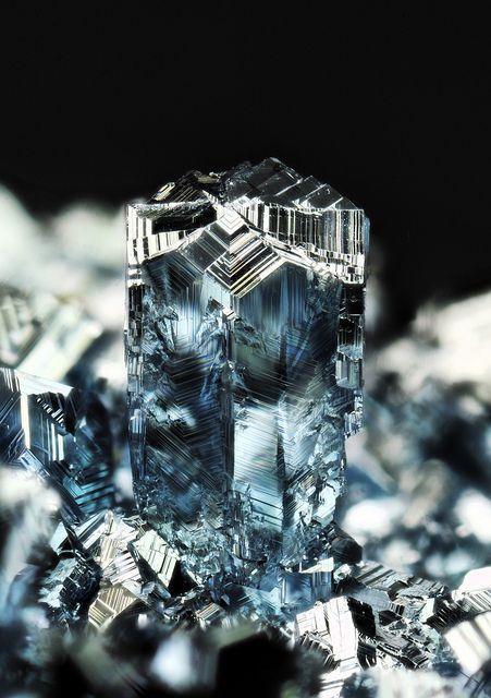 blue osmium crystals