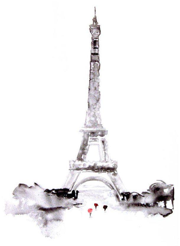 eiffel tower watercolor wwwimgkidcom the image kid