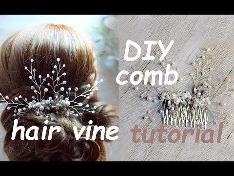 Easy DIY Bridal Gold Leaves Hair Vine Pins Bridal Hair Tutorial Hair Vine, Wire beads Como hacer - YouTube
