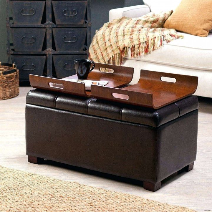 Round Leather Coffee Table Ottoman Best Paint For Wood Furniture