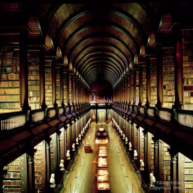 Trinity Library ~ Duplin, Ireland. I must see this one day.