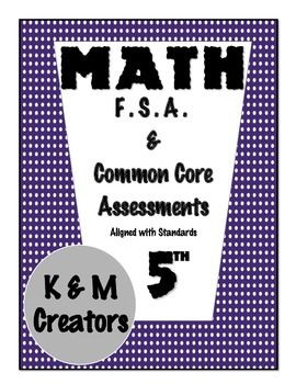 This Summative Assessment evaluates students' mastery of concepts and skills taught in MAFS.5.MD.2.2 Item types on this test is similar to ones a student would encounter on a test to assess Common Core or Florida standards such as:  multiple choice response, multi-select response, equation response, matching item response, and table response. ...