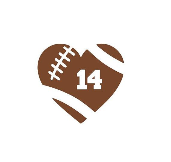 Hey, I found this really awesome Etsy listing at https://www.etsy.com/listing/257821147/football-heart-decal-football-number