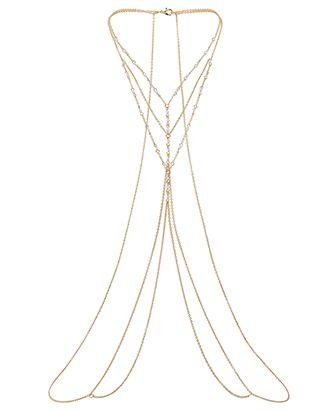 Delicate Pearl Body Chain