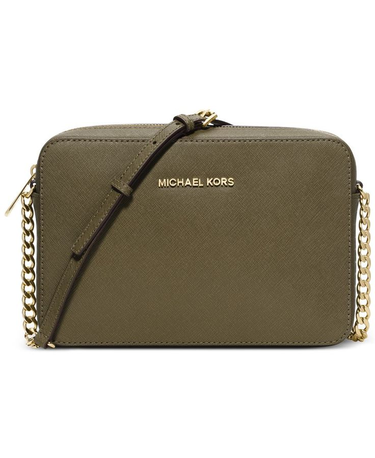 MICHAEL Michael Kors Jet Set Travel Large Crossbody- In the Navy and Gold