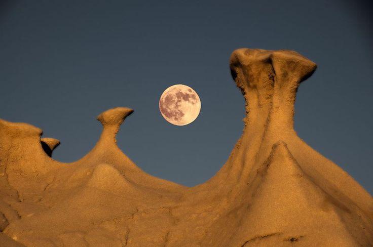 Desierto de Nuevo México,. Un desierto con formaciones rocosas que parece de un planeta lejano.