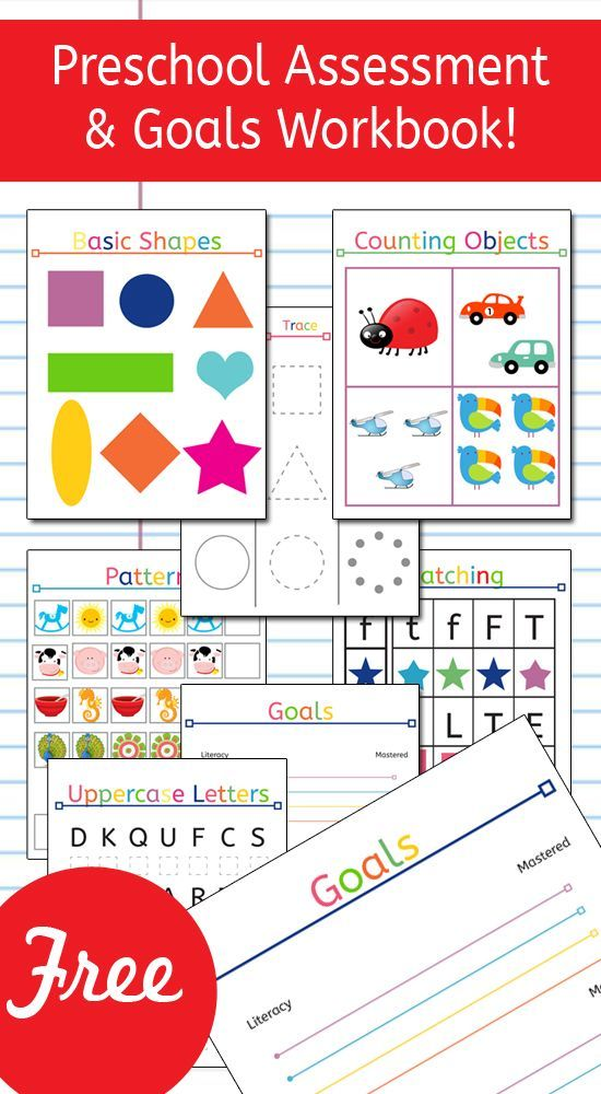 Preschool Assessment and Goals Workbook! What an amazing and fun resource to use with your preschooler! It lets parents know in what areas their preschooler excels, and which areas they could use a little extra work! This resource is amazing!