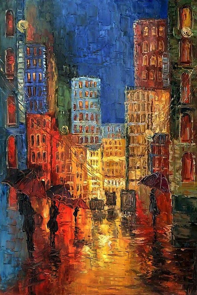 Justyna Kopania, Street Reproduction - Hand Painted Oil Painting on Canvas