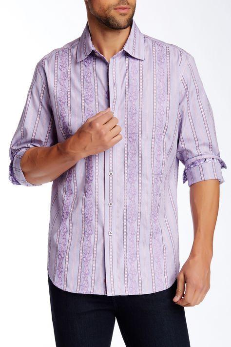Shredding Classic Fit Shirt by Robert Graham on @nordstrom_rack