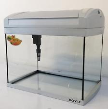 Small Aquarium Fish Tank Tropical Coldwater 20L PL Lighting Boyu Black / Silver