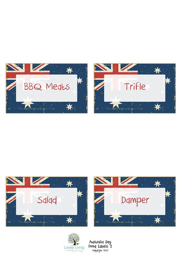 Food labels Aust Day