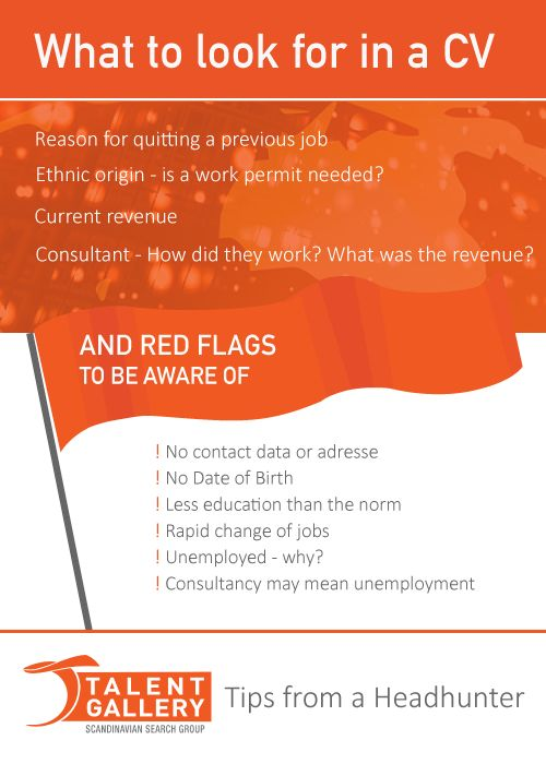 What to look for in a CV - Need help with your recruiting processes? Head to www.talent-gallery.no/en for more information