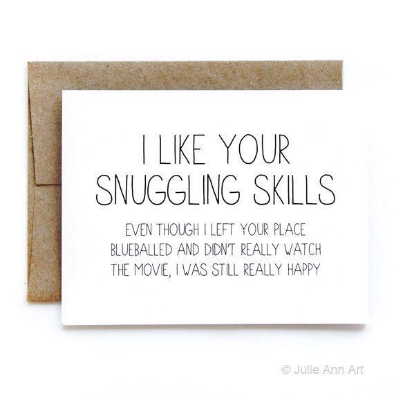 Schön Funny Card   New Relationship Card   Snuggling Skills By JulieAnnArt On  Etsy Https:/