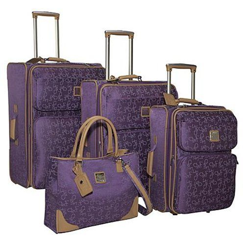Diane Von Furstenberg Signature Seven 4 Piece Luggage Set