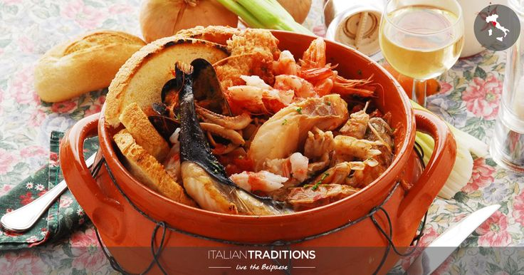 The taste of the sea in a dish. Cook the typical fish soup of #Livorno with #ItalianTraditions: the #cacciucco! #toscana ##food #tasty
