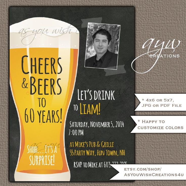 31 best 40th Birthday Party Invitations for Men - Beer Birthday ...