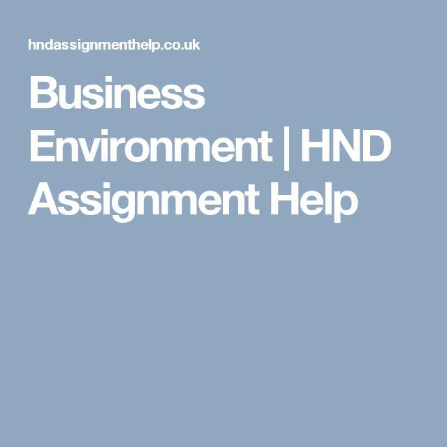 Business Environment | HND Assignment Help