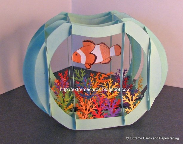 Craft for kids paper aquarium for kids for Pop up aquarium