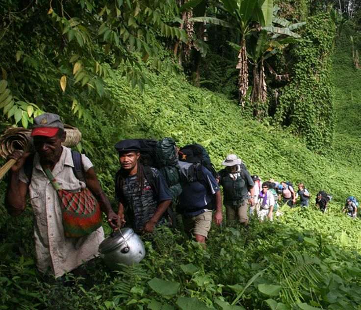 Walking the kokoda trail involves 50 hours hiking, sharp, timbered ridges, steep valleys and rivers. Magnificent mountain landscapes promised!