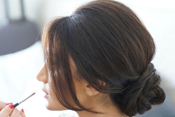 Peinado De Novia En Chongo Bajo Bodas Elblogdemar 237 Ajos 233