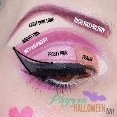 monster high draculaura tutorial - Eyeshadow For Halloween