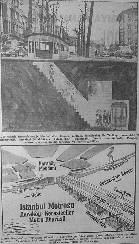 eski zamanlarda metro projesi yine MECİDİYEKÖY