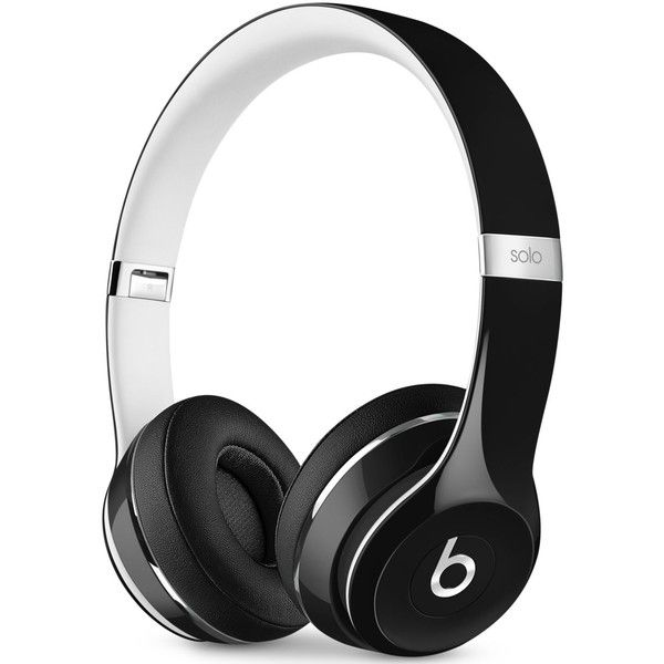 Beats By Dr. Dre Solo 2 Luxe Wireless Headphones ($200) ❤ liked on Polyvore featuring accessories, tech accessories and luxe black