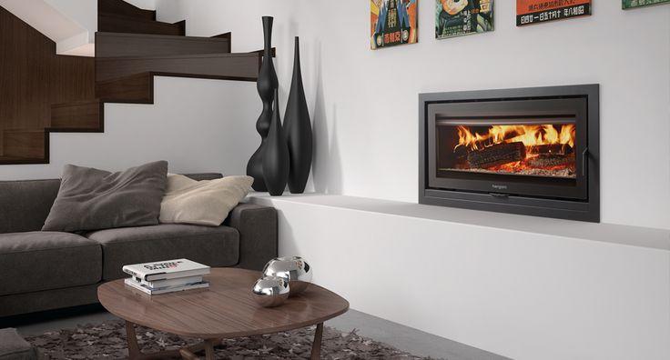 Hergom - Estufas, hogares y chimeneas de hierro fundido para leña y gas. Europa América - Sere 100