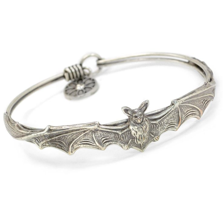 Vampire Bat Bracelet Sweet Romance Jewelry - Vampyre 7 in Silver Bangle bracelet