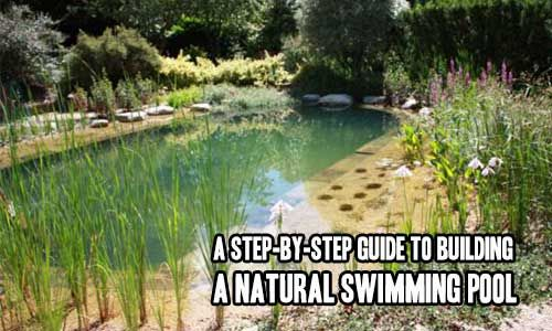 A Step-By-Step Guide to Building a Natural Swimming Pool  A natural swimming pool or natural swimming pond (NSP) is a system consisting of a constructed body of water, where the water is contained by an isolating membrane or membranes, in which no chemicals or devices that disinfect or sterilize wa…