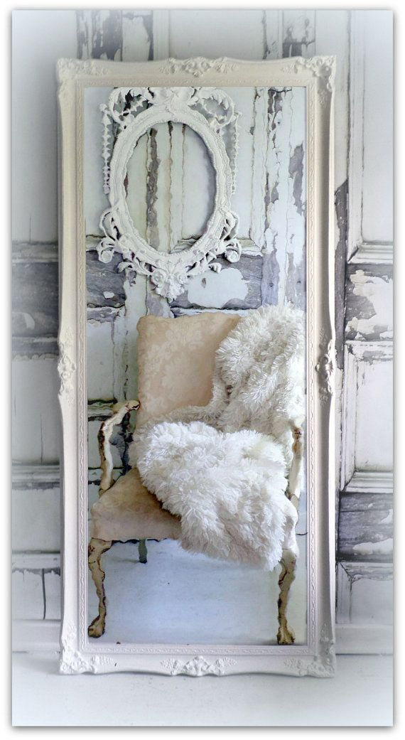 Huge Leaner Vintage Chic Full Length Mirror Hollywood Regency Decor Baroque Master Bedrooms
