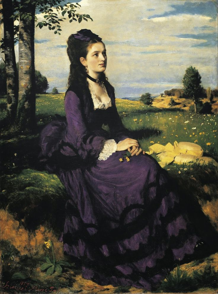 Pál Szinyei Merse - Lady in Violet [1874]