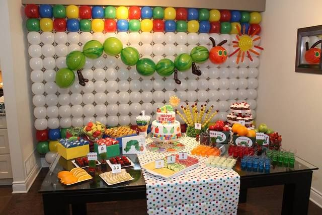 The Very Hungry Caterpillar Birthday Party!  See more party ideas at CatchMyParty.com!  #partyideas #caterpillar