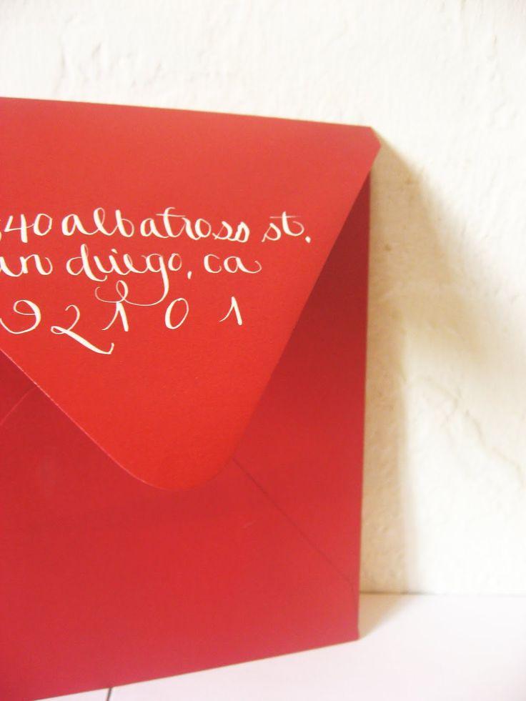 how to return address wedding envelopes%0A Return address on the reverse of the envelope really liking this