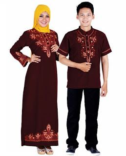 Baju Muslim Pasangan - Serasi Model Gaya Baju Muslim Pasangan. Baju Muslim Pasangan - Ada kalanya pasangan kekasih atau suami istri ingin memakai baju muslim pasangan di acara atau moment-moment tertentu.  Tidak hanya memakai baju dengan warna yang sama tapi juga modelnya.